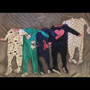 Bundle of Carters zip up jammies